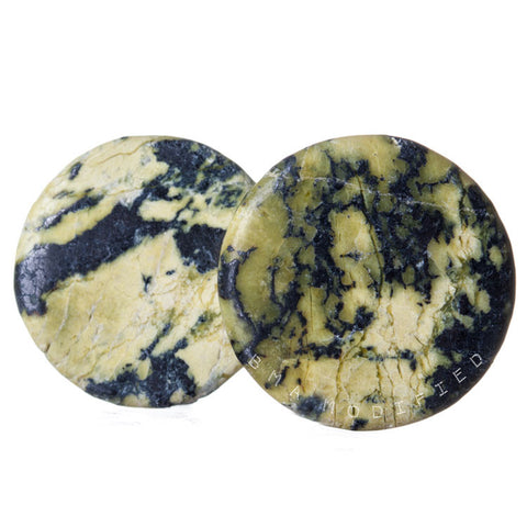 yellow turquoise stone plugs