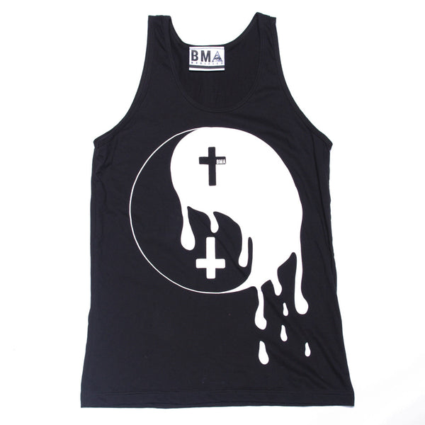 Vest Tank//Melting Yin Yang Black