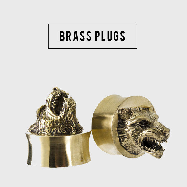 brass ear plugs