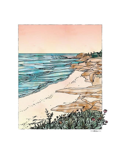 Studio Sea - East Cliff Print