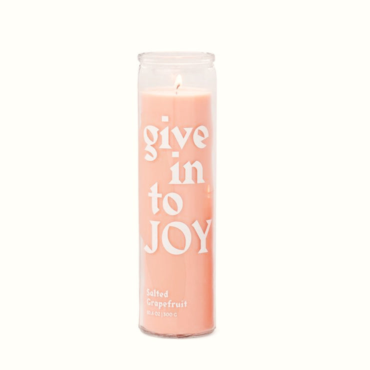 Paddywax Give into Joy Prayer Candle