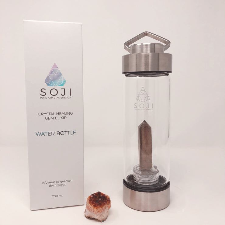 Soji Crystal Water Bottle Smoky Quartz