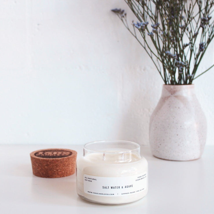Salt Water & Agave Soy Candle