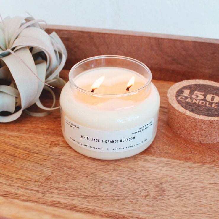 White Sage & Orange Blossom Candle