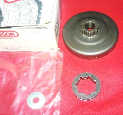 echo cs-650, cs-660, john deere 65ev chainsaw oregon clutch rim sprocket pn 29313 new