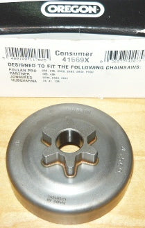 POULAN PRO 255, 295, 2500, 2600, P600 PARTNER 365, 405, JONSERED 2041, 2036, 2040 HUSQVARNA 36, 41, 136 CHAINSAW OREGON 3/8LP-6 SPUR SPROCKET DRUM NEW pn 41569x (SPRKT BIN 4)