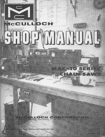 Mcculloch Mac 10 Series Chainsaw downloadable pdf Service and Repair Manual