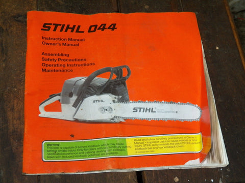 Agriculture/farming Stihl Instruction Manual Business, Office & Industrial
