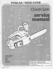 Poulan Micro - 2300 CVA Chainsaw Workshop downloadable pdf Service and Repair Manual