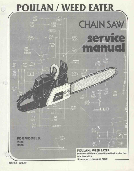 Rouge River Workshop Poulan 2050 Chain Saw Manual Guide