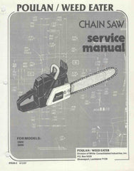 Poulan 2800 - 3300 Chainsaw Workshop downloadable pdf Service and Repair Manual