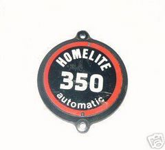 Homelite 350 Chainsaw Starter Cover Decal Emblem