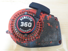 homelite 360 chainsaw starter recoil cover and pulley assembly
