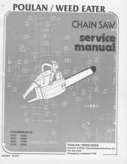 Poulan 4200 - 8500 Chainsaw Workshop downloadable pdf Service and Repair Manual