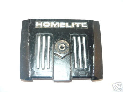 Homelite XL 1 XL1, Super EZ Chainsaw black, metal Air Filter Cover w/Nut