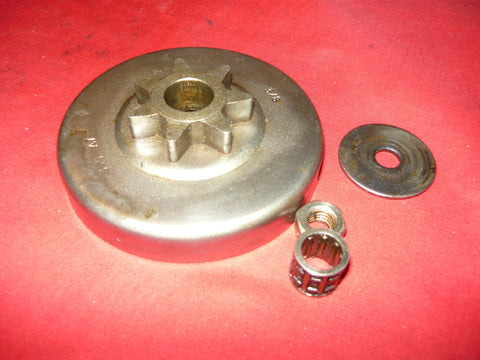 echo cs-451vl, cs-452vl and john deere 50v chainsaw 3/8-7 chainsaw spur drum sprocket and bearing