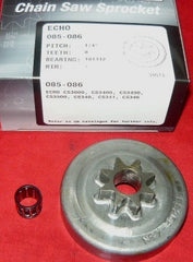 "echo cs 3000, 3400, 3450, 3500, 340, 346 + chainsaw gb 1/4"" x 8 T clutch pro spur sprocket drum new (sprkt box 9)"