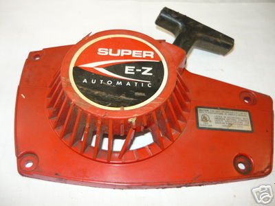 Homelite Super EZ Starter recoil cover and pulley assembly (plastic with broken grilles)