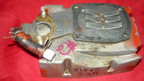 remington super 754 chainsaw fuel tank body with reed plate and studs #2