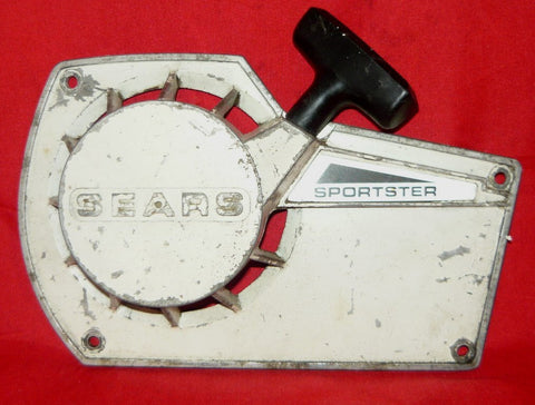 roper built craftsman 3.7 chainsaw white, early model starter recoil cover and pulley assembly