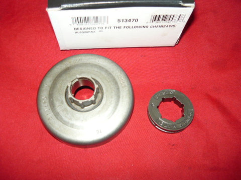 husqvarna 455 chainsaw oregon power mate clutch sprocket pn 513470 new (spkt bin 4)