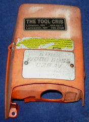 stihl 028 av wood boss chainsaw top cover shroud #6
