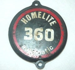 Homelite 360 Chainsaw Starter Cover Emblem Decal