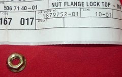 husqvarna st 723, 926, 1030 snow blower lock top flange nut pn 506 71 40-01 new box h-12