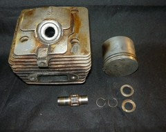 Pioneer P40 P-40 Chainsaw Piston and Cylinder Assembly