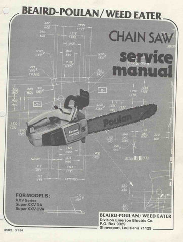Poulan XXV 25A Chainsaw Workshop downloadable pdf Service and Repair Manual