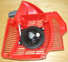 efco 165, 156 chainsaw complete starter recoil cover and pulley assembly new pn 5001031br (new efco bin2)