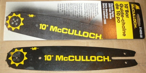 "mcculloch chainsaw 10""/ 3/8 LP/ .050 guage mini pro sprocket tip bar Pn 214233"