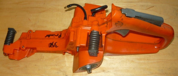 husqvarna 350 chainsaw fuel tank rear trigger handle with spring mount