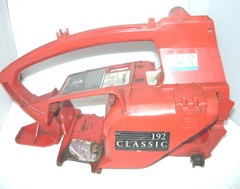homelite 192 chainsaw engine housing case and rear handle