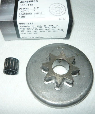 "Jonsered and Olympic chainsaw gb pro spur sprocket 3/8"" new"
