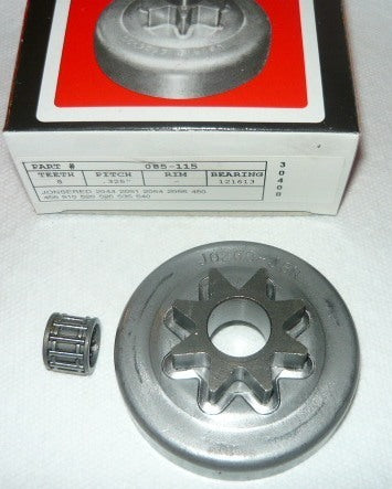 jonsered 2044, 2051, 2054, 450, 520 + others gb spur sprocket drum and bearing new