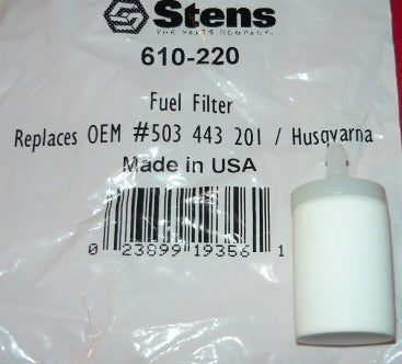 husqvarna fuel filter replaces part # 503 44 32-01 new