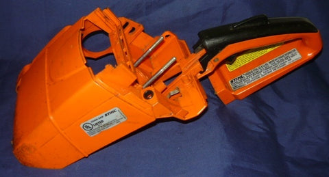 stihl ms 290 chainsaw rear trigger handle housing
