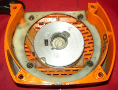 olympic 251 chainsaw starter recoil cover and pulley asssembly