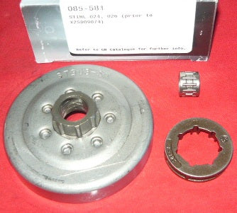 stihl 024, 026 (models prior to x25809074) chainsaw GB .325x7 rim sprocket drum with bearing new (sprkt bin 1)