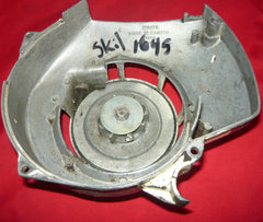 skil 1645 chainsaw starter recoil cover and pulley assembly