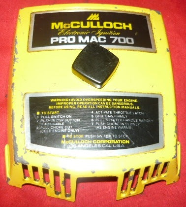 Mcculloch Pro Mac 700 Chainsaw Air Filter Cover And Nut 3 border=