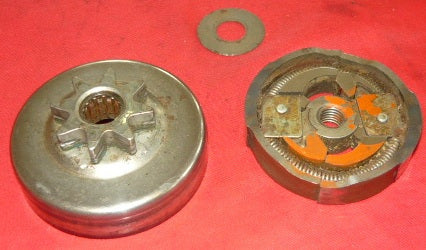 mcculloch double eagle 50 chainsaw  325 x 8 complete clutch spur sprocket  assembly