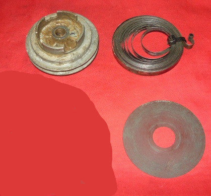 stihl 031 av chainsaw starter pulley, rewind spring and shield