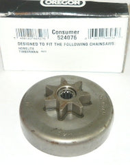 homelite 3300, 3350, 3800, 3850, 20, 23, ps-33, ranger chainsaw oregon clutch spur sprocket drum .325 x 7 new pn 524076 (sprkt bin 5)
