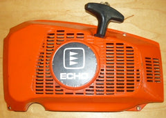 echo cs-650evl chainsaw starter recoil cover and pulley assembly