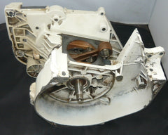stihl 042, 048 chainsaw crankcase chassis and crankshaft assembly