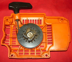 olympic 950f super chainsaw starter recoil cover and pulley assembly #1