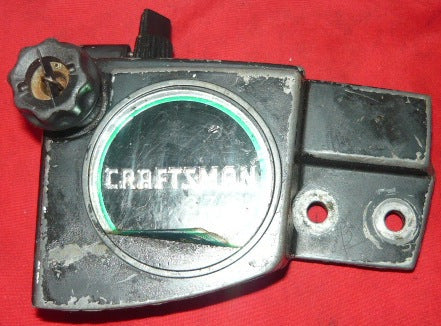 roper built craftsman 3.7 chainsaw clutch cover with model # 917.353760 (early model,black)