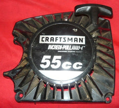 craftsman 55cc chainsaw starter recoil cover and pulley assembly
